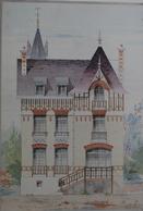 PLANCE ARCHITECTURE L'HABITATION PRATIQUE 38.5X31.5 CM - PETIT HOTEL, RUE DES ORMEAUX  LE HAVRE    ==  2 SCANS - Architecture
