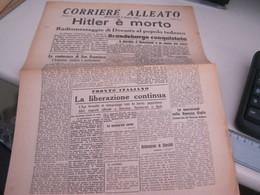 GIORNALE CORRIERE ALLEATO MERCOLEDI' 2 MAGGIO 1945-HITLER E' MORTO - War 1939-45