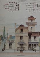 PLANCE ARCHITECTURE L'HABITATION PRATIQUE 38.5X31.5 CM - MAISON A LA CELLE ST.CLOUD    ==  2 SCANS - Architecture