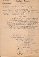 VP12.132 - PARIS 1890 - République Française - Arrêté Concernant Mr CATOIS Docteur En Médecine Et Pharmacie De CAEN - Documents Historiques