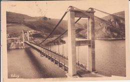 CPA - LE TREBOUL Le Pont Suspendu Et Le Lac De Sarrans - France