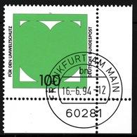 RFA - Protection De L'environnement YT 1566 Obl. / Bund - Umweltschutz Mi.Nr. 1737 Gest. - BRD