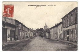 51 Passavant En Argonne La Grande Rue Cpa Petite Animation Edit Moisson Cachet 1911 - Autres Communes
