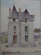 PLANCE ARCHITECTURE L'HABITATION PRATIQUE 38.5X31.5 CM - VILLA D.L... M .. A BRIVE   ==  2 SCANS - Architecture