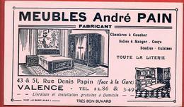 Buvard Ancien MEUBLES ANDRE PAIN à VALENCE (Drôme)   Illustration Ameublement    Par TOUGY LE RAINCY - Buvards, Protège-cahiers Illustrés
