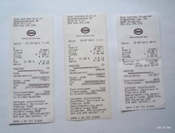 BELGIUM 2012. Esso Express Fuel - Diesel Payment Receipts X 3 - 1950 - ...