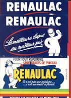 3 Buvards Anciens Peintures :   RENAULAC - LAQUE, EMAIL A FROID  SANS TRACE DE PEINCEAU  -   Illustrateur  EIN - Paints