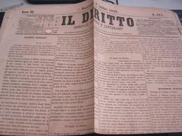 GIORNALE  IL DIRITTO 2 OTTOBRE 1859 - War 1939-45
