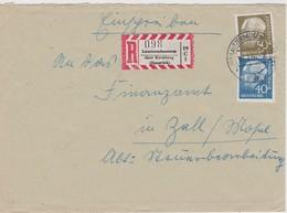 RFA 1958 LETTRE RECOMMANDEE DE LAUTZENHAUSEN SANS CACHET ARRIVEE - Covers & Documents