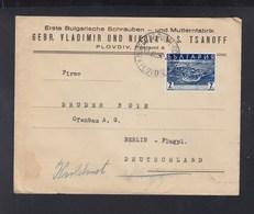 Bulgaria Cover 1936 To Berlin - 1909-45 Regno