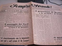 GIORNALE SEMPRE AVANTI 19 DICEMBRE 1945 - War 1939-45