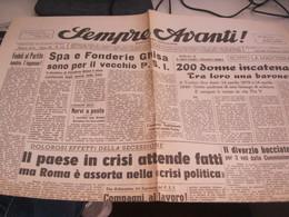 GIORNALE SEMPRE AVANTI 16 GENNAIO 1947 - War 1939-45