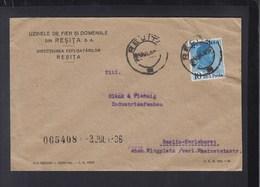 Romania Cover 1936 Resita To Berlin - 1918-1948 Ferdinand, Charles II & Michael