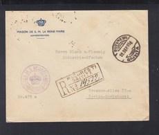 Romania Registered Cover 1936 Maison De SM La Reine Marie - 1918-1948 Ferdinand, Carol II. & Mihai I.