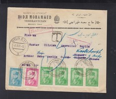 Persia Iran Cover 1937  To Berlin Tax - Iran