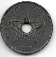 *Belgian Congo 10 Centimes 1888  Km 4  Xf+ !!! - Congo (Belgian) & Ruanda-Urundi