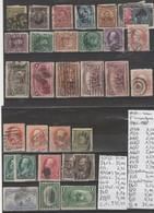 TIMBRE DES ETATS-UNIS  OBLITERES Nr  VOIR SUR PAPIER AVEC TIMBRES  COTE 235.50EURO - 1847-99 General Issues