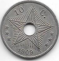 *Belgian Congo 10 Centimes 1909  Km 13 - Congo (Belgian) & Ruanda-Urundi