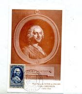 Carte Maximum 1953 Paris Journee Du Timbre Argenson - Maximum Cards