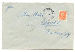 Yugoslavia Letter Cover Travelled 1948 Slavonski Brod To Zagreb  B180525 - 1945-1992 Socialist Federal Republic Of Yugoslavia
