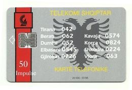Albania - Tessera Telefonica Da 50 Units T493 - Telekomi Shqiptar - Albania