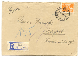 Yugoslavia Letter Cover Travelled Registered 1946 Cetinje To Zagreb  B180525 - 1945-1992 Sozialistische Föderative Republik Jugoslawien