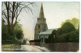 EASTHAM : VILLAGE AND CHURCH - England
