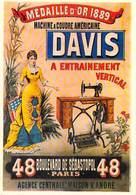 PUB Publicité  NUGERON  J 2 Nos Publicités Machine à Coudre Américaine DAVIS  *PRIX FIXE - Publicité
