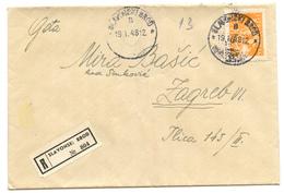 Yugoslavia Letter Cover Travelled Registered 1948 Slavonski Brod To Zagreb  B180525 - 1945-1992 Sozialistische Föderative Republik Jugoslawien