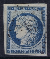 France : Yv Nr 4 Obl./Gestempelt/used  PC 277 Bastia Corse - 1849-1850 Ceres
