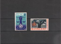 St VINCENT Année 1968  Année Internationale Des Droits De L'homme N°Y/T : 244/45** - St.Vincent (1979-...)