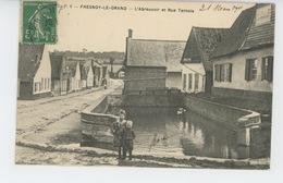 FRESNOY LE GRAND - L'Abreuvoir Et Rue Ternois - Andere Gemeenten