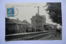 CPA 60 OISE ROCHY CONDE. ROCHY CONDEE. La Gare. 1921. - France