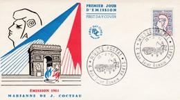 1961 -  FDC  -   Marianne De Jean Cocteau - 1960-1969