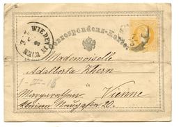 Austria Postal Stationery Postcard Correspondenz-Karte Travelled 1872 To Wien B180525 - Ganzsachen