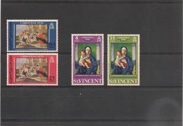 St VINCENT Année 1970  Noël N°Y/T : 290/93** - St.Vincent (1979-...)