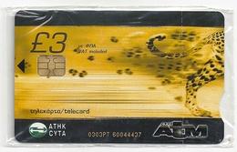Cyprus - Cyta - ATM Cheetah Animal - 0403PT - 10.2003, 2.000ex, NSB - Cyprus