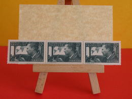Bande 3 Timbres Neufs > N°337 Vert-gris (Y&T) Mermoz (1937) - Coté 3€ - Francia
