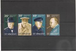 St VINCENT Année 1974 Centenaire Naissance De Winston Churchill N°Y/T : 368/71** - St.Vincent (1979-...)