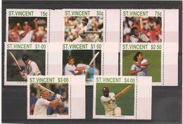 St VINCENT Année 1988 Joueurs De Cricket N°Y/T : 1065/72** Côte : 15,00 € - St.Vincent (1979-...)