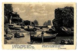 Set Di 2 Cartoline Illustrate Con Paesaggi E Citazioni Di A. Fogazzaro. - Cartoline