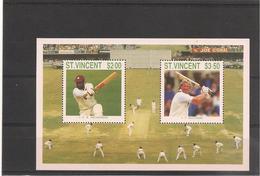 St VINCENT Année 1988 Joueurs De Cricket  Bloc N°Y/T :44** - St.Vincent (1979-...)