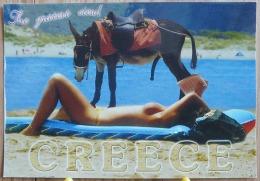 PIN UP GREECE GRECE FEMME NUE MULET BIEN MONTE ET PRET A ETRE MONTE GRD FORMAT SCAN R/V - Pin-Ups