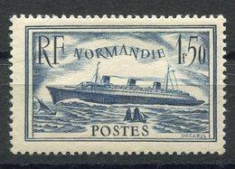 RC 8887 FRANCE N° 299 - 1F50 PAQUEBOT NORMANDIE BLEU FONCÉ NEUF ** - France