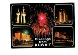 Cpm - KUWAIT - Greetings From Kuwait - KAC - Feu Artifice - Kuwait