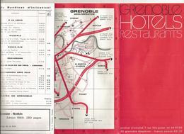 Publicité , GRENOBLE , Isére , Hotels , Restaurants, Plan , 12 Pages, 4 Scans , Frais Fr 1.55 E - Advertising