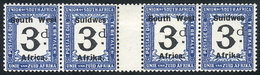 6 SOUTH WEST AFRICA: Sc.J37, Gutter Pair, Very Nice! - South West Africa (1923-1990)