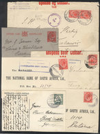 8 SOUTH WEST AFRICA: 4 Covers Or Postal Stationeries + 2 Cover Fronts Used Between 1913 And 1916, Some Nice Cancels, Fin - South West Africa (1923-1990)