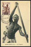 11 FRENCH EQUATORIAL AFRICA: Maximum Card Of 23/JUL/1955: A Pirogue Driver, VF Quality - A.E.F. (1936-1958)