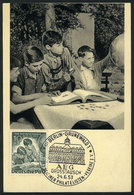 25 GERMANY: Maximum Card Of JUN/1953: Philatelics, Boys Collecting Stamps, Stamp Day, With Special Pmk, VF Quality - Germany
